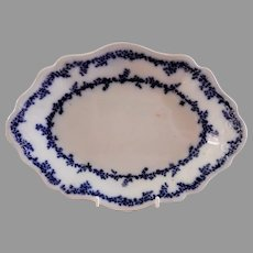 "William Grindley & Co Flow Blue ""Aldine"" Pattern 10"" Oval Platter"