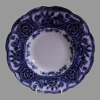 "Wedgwood & Co (Ltd) Blue Transferware ""Atalanta"" Pattern Wide Rim Soup Bowl"