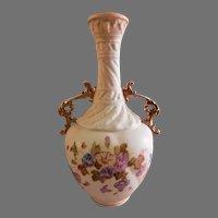 Royal Rudolstadt Vase w/Morning Glory Floral Decoration