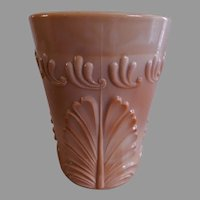 "Greentown Indiana Tumbler & Goblet Co. Chocolate Glass ""Leaf and Bracket"" Pattern Tumbler"