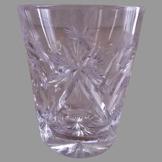 """Brilliant"" Cut Glass Tumblers - Set of 3"