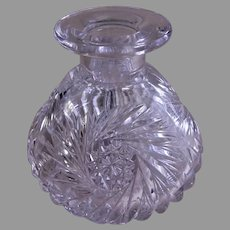 Brilliant Cut Glass Bud Vase/Perfume Bottle