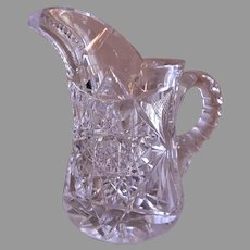 """Hawkes"" Brilliant Cut Glass Small Pitcher"