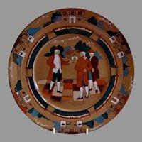 """Buffalo Pottery - Deldare Series """"Ye Village Gossips"""" Pattern Dinner Plate"""