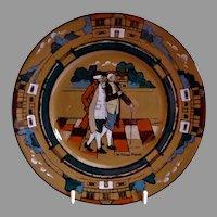 "Buffalo Pottery - Deldare Series ""Ye Village Street"" Pattern Salad/Dessert Plate"