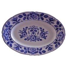 "Villeroy & Boch Dresden Blue ""Wild Rose"" Pattern Platter"