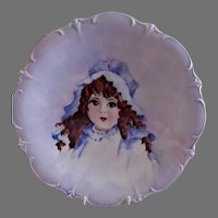 Bavaria Hand Painted Portrait Plate - Beautiful Brunette Young Lady