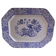 "William Adams & Sons ""Chinese Mongolia"" Pattern Blue Transferware Platter"
