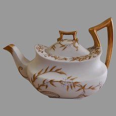 T&V Limoges Hand Painted/Gold Encrusted 1-Cup Teapot - Artist signed