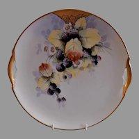 """Edward Donath Studio Art Nouveau """"Blackberry"""" Plate - Signed Pep"""
