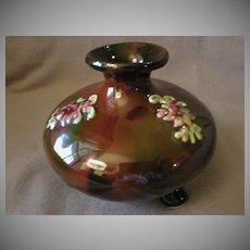 """Peters & Reed """"Sprigged"""" Decorated Footed Vase"""
