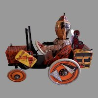 """Louis Marx Tin Litho Wind-Up """"Whoopee Crazy Car"""" Circa 1925"""