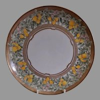 Atlan Ceramic Art Club H.P. Arts & Crafts Plates w/Lemon Fruit & Blossoms