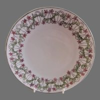 """Arts & Crafts - Germany - Hand Painted """"Forget-Me-Not"""" Floral Motif Cabinet Plate"""
