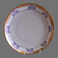 """Arts & Crafts - Bavaria - Hand Painted """"Geometric Formations"""" Motif Cabinet Plate/Shallow Bowl"""
