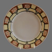 """Arts & Crafts - Haviland - Hand Painted """"Daffodil"""" Floral Motif Cabinet Plate"""