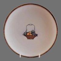 "Arts & Crafts - Haviland - Hand Painted ""Basket of Fruit"" Motif Cabinet Plate"