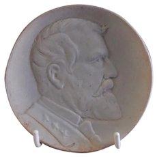 Weller Pottery St Louis World's Fair 1904 Ulysses S Grant Souvenir Plaque