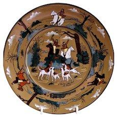 "Buffalo Pottery - Deldare Series ""The Fallowfield Hunt, The Death"" Pattern Luncheon Plate"