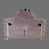 Imperial Glass Company - Candlewick Crystal Desk Calendar Advertising Sign