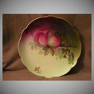 "Jaeger & Co Porcelain ""Fruit Motif""Cabinet Plate - Signed A Koch"