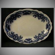 "W.H.Grindley ""Portman"" Pattern Flow Blue Platter"