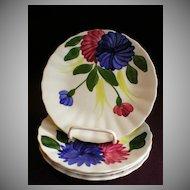 "Set of 4 Blue Ridge ""Chrysanthemum"" Bread & Butter/Dessert Plates"