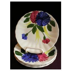 "Set of 4 Blue Ridge ""Chrysanthemum"" Bread & Butter/Dessert Plates"