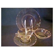 "Four (4-Pc Place Settings) Fostoria ""Century"" Table Glassware"