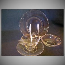 "Four (4-Pc Place Settings) Fostoria ""Century"" Table Glassware"