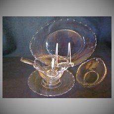 "9 Piece Grouping of Fostoria ""Century"" Pattern Glassware Items"