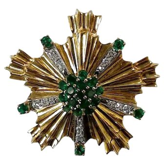 1935 18K Yellow Gold and Emerald Tiffany & Co. Brooch/Pendant