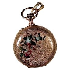 Ldaies 14K Yellow Gold Hunter Pocket Watch- 1890's