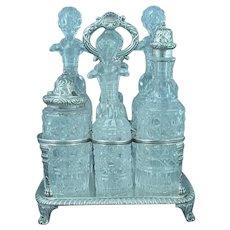 George III Sterling Silver Cruet Set