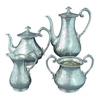 Beautiful Victorian Sterling Silver Tea Set