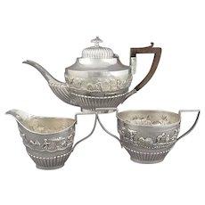 Antique Indian Silver Tea Set