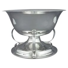 Edwardian Arts and Crafts Silver Bowl
