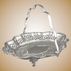 Edwardian Sterling Silver Cake Basket