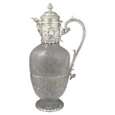 Sterling Silver Claret Jug by Elkington & Co