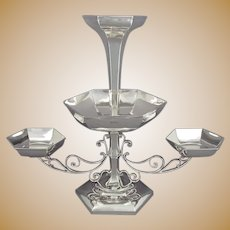 English Sterling Silver Epergne