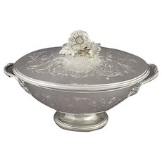 French Sterling Silver Soup Tureen