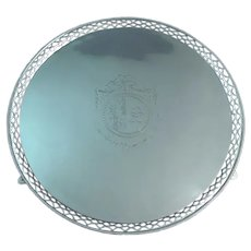 Large George II Sterling Silver Salver Armorial