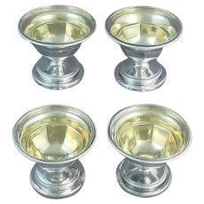 Set of Four George III Sterling Silver Salts