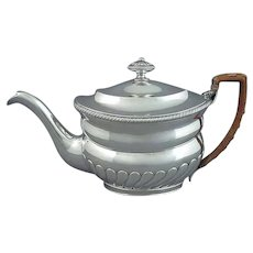 China Trade Silver Teapot by Sunshing