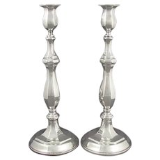 Italian Sterling Silver Candlesticks