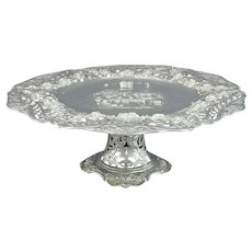 Large Rococo Style Silver Dessert Stand