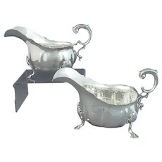 Pair of Sterling Silver Sauce Boats