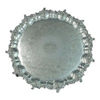 Large Victorian Sterling Silver Salver