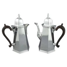 English Sterling Silver Café au Lait Set