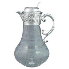 Stunning Victorian Sterling Silver Claret Jug